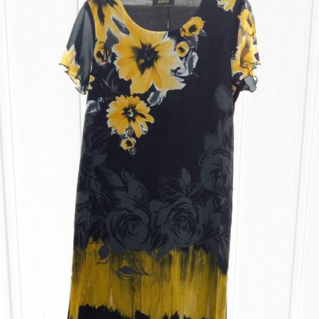Abito-nero-fiori-gialli-unito-in-fondo