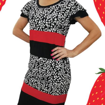 abito-nero-con-fiori-bianchi-efasce-rosse-unito-in-fondo