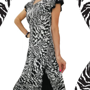abito-nero-zebrato-con-spacco-in-fondo