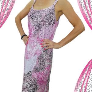 abito-rosa-maculato-nero-e-grigio-con-spacco-in-fondo