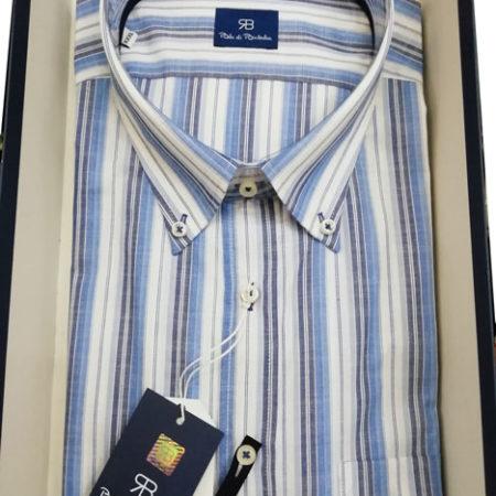 camicia-mezza-manica-renato-balestra-righe-azzurro-blu