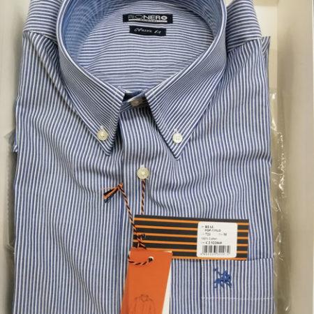 camicia-mezza-manica-rio-nero-righe-azzurro-righe-blu