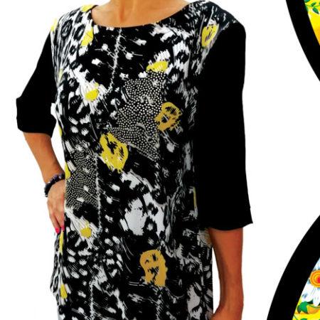 maglia-nera-a-fiori-gialli-con-fascia-oro-sulla-schiena-retro