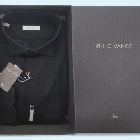 camicia-uomo-art-affi-strectch-slim-fit-nero-philo-valance