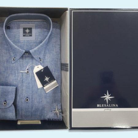 camicia-uomo-bottoncini-azzurro-jeans-art-bangor-blusalina