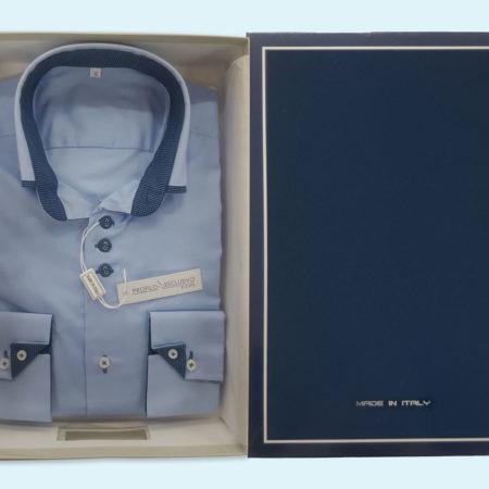 camicia-uomo-profilo-esclusivo-colore-cielo-bottoncini-art-Robbie-Made-in-Italy