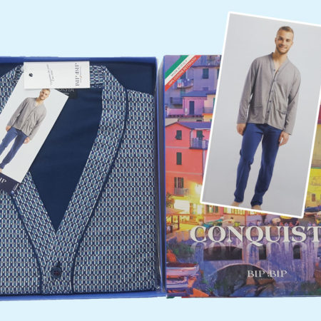 pigiama-cardigan-orlato-tasche-art-2110-royalblu-conquista