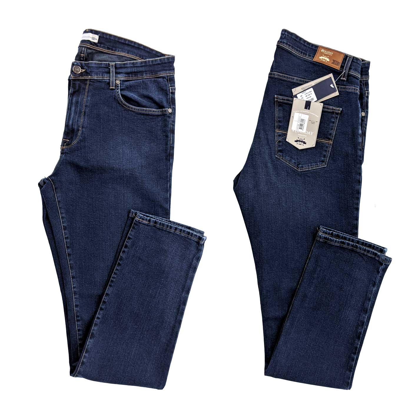 Pantaloni Jeans Tasche Elasticizzati Taglie Confort Anche Taglie Grandi