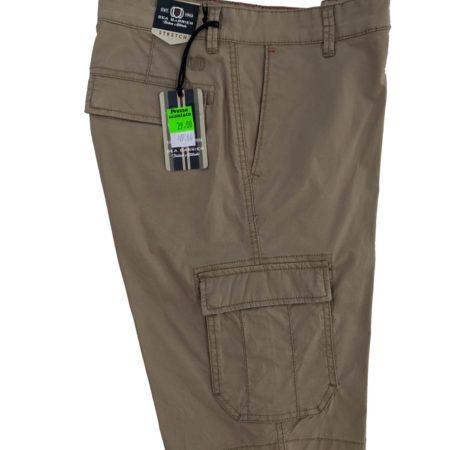 pantaloncini corti da uomo con tasche laterali cargo blu
