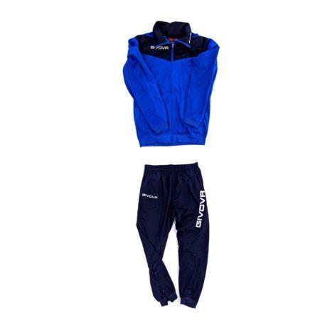 tuta da ginnastica sportiva giovanile uomo colorata azzurra blu