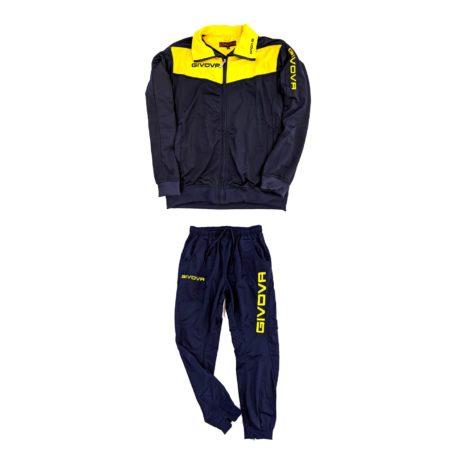 tuta da ginnastica sportiva giovanile uomo colorata gialla