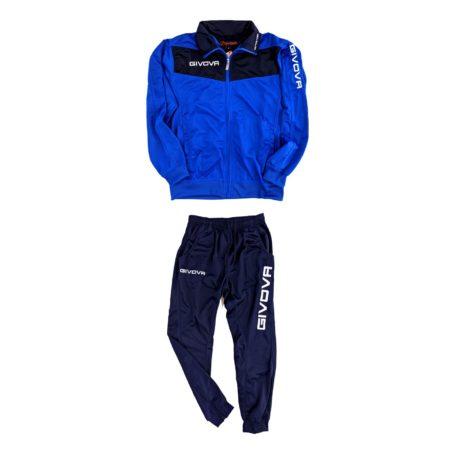 tuta da ginnastica sportiva giovanile uomo colorata azzurra