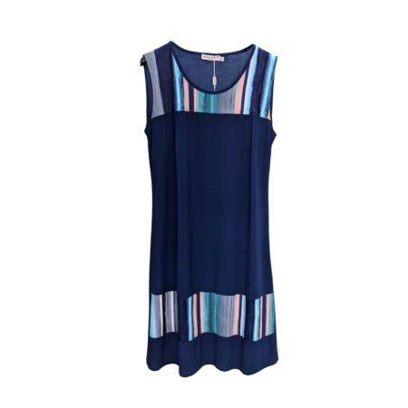 abito blu smanicato Gocce di Elena Cardiel