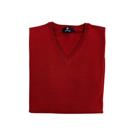 pullover lana merino uomo rosso