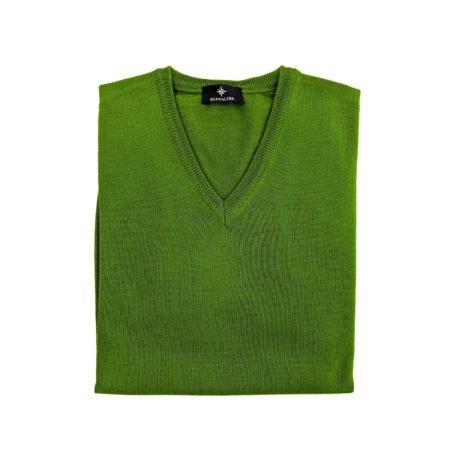 pullover lana merino uomo verde