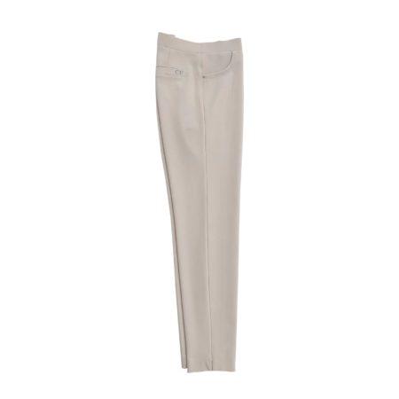 pantalone leggings elasticizzati donna beige quasi bianco