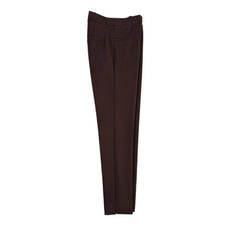 pantalone leggings elasticizzati donna marrone