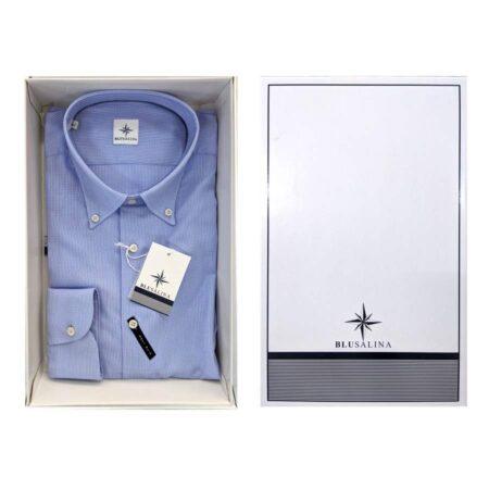 camicia azzurra elegante uomo slim