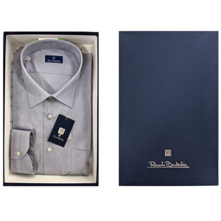 camicia da uomo color grigio perla