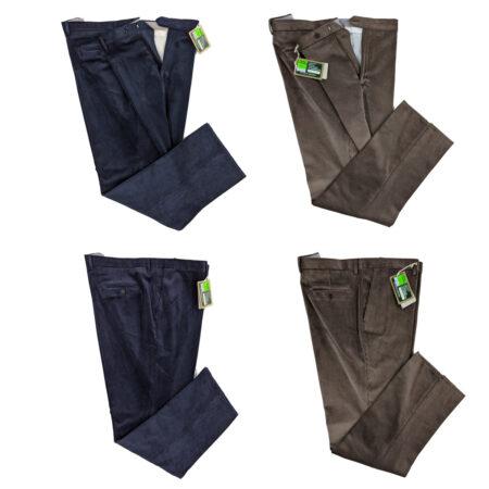Pantaloni in velluto Duca Visconti di Modrone elasticizzato taglie forti
