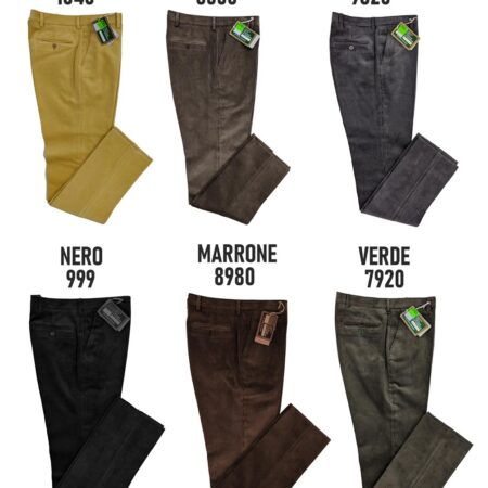 pantaloni a coste da uomo in velluto