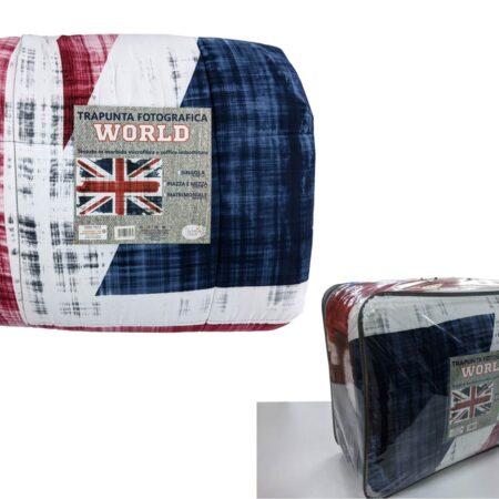 trapunta con bandiera inglese stampa fotografica