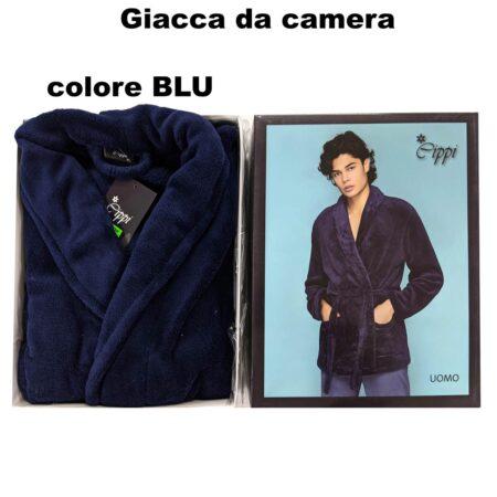 giacca da camera uomo avio zzurro