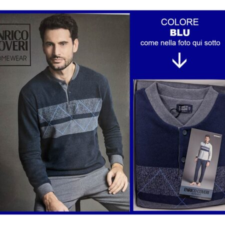 pigiama invernale uomo Enrico Coveri