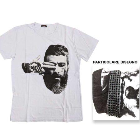 t-shirt maglietta uomo bianca