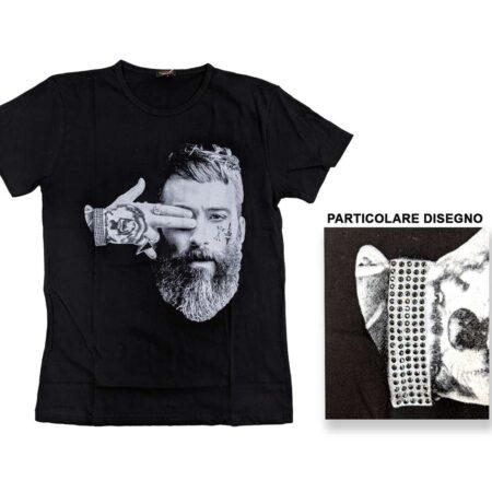 t-shirt maglietta uomo nera