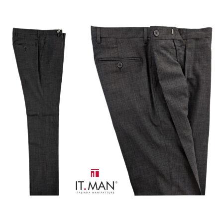pantalone uomo classico grigio
