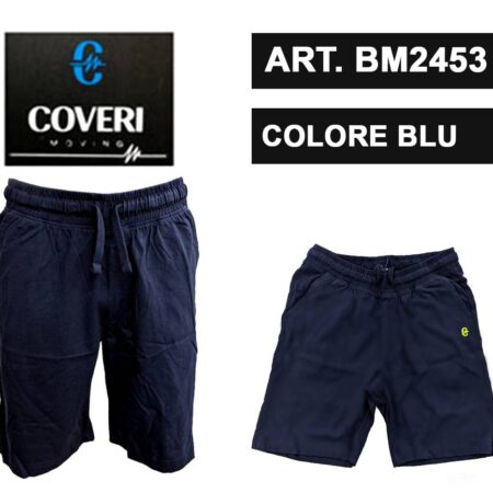 pantaloncini corti blu da uomo