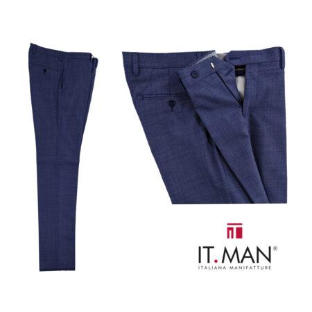 pantaloni classici moderni uomo blue chiaro