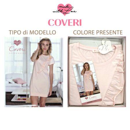 Camicia da notte Coveri Homewear EP2007 rosa