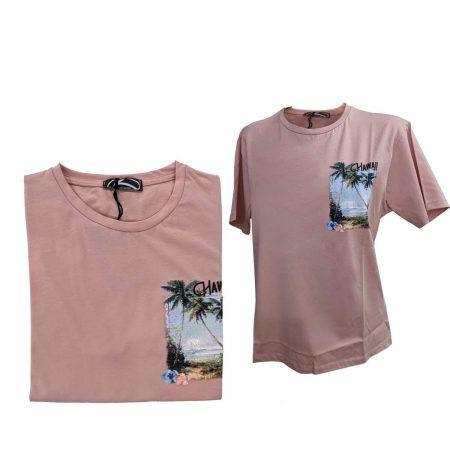 T shirt uomo rosa antico