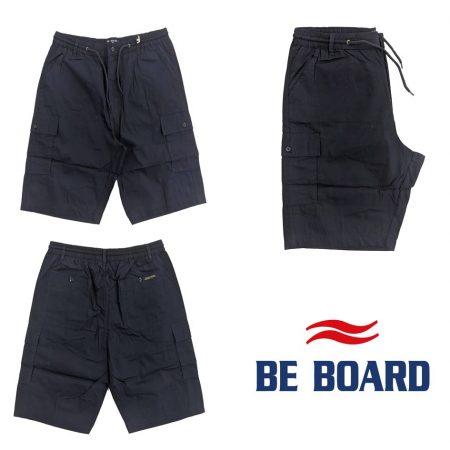 pantaloncini corti giovanili tasconi laterali cargo blu da uomo