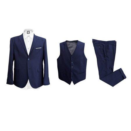 abito da cerimonia tre pezzi blu matrimonio