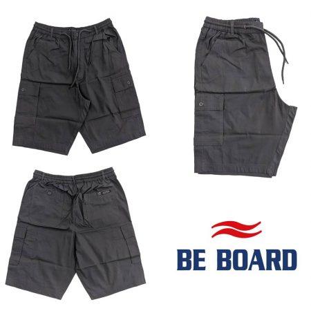 pantaloncini corti giovanili tasconi laterali cargo colore grigio da uomo