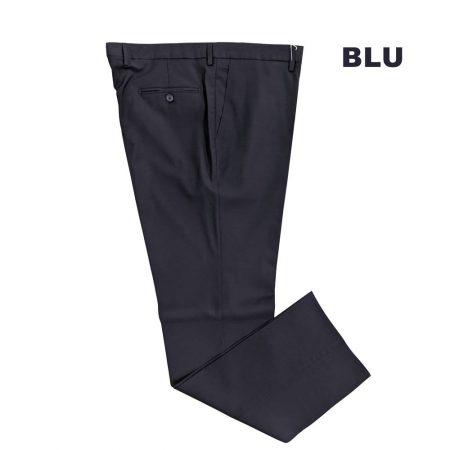 Pantaloni da uomo classici in lana di colore blu