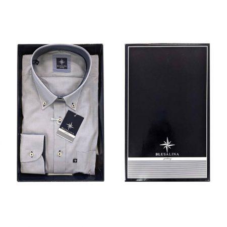 camicia da uomo grigia elegante giovanile