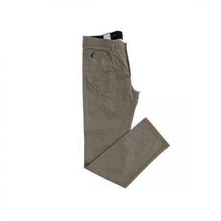 pantaloni uomo modello 5 tasche tortora