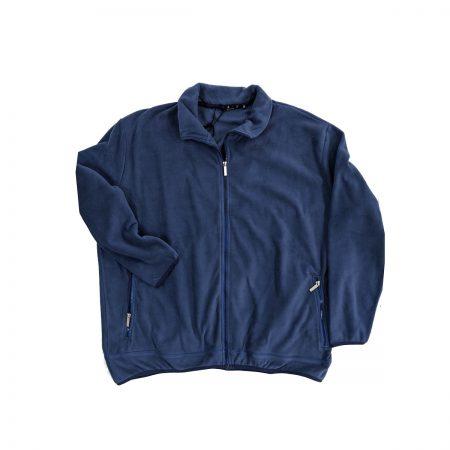 felpa in pile con zip blu