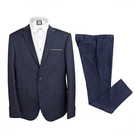 vestito elegante da uomo blu